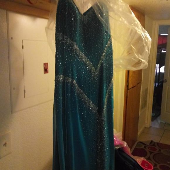 Tiffany Designs Dresses & Skirts - Turquoise long Tiffany